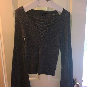American Eagle Criss-Cross Sweater